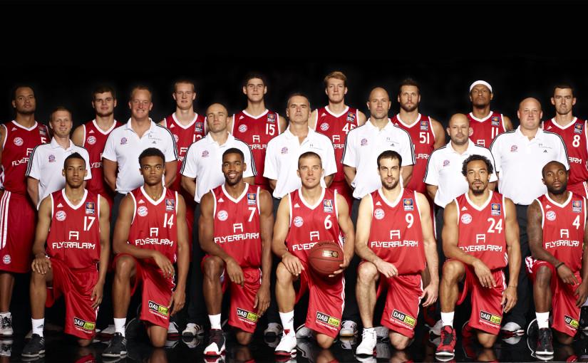 Teamfoto FC Bayern München Basketball; Quelle: (c) FCBB, Foto: Christian Kaufmann