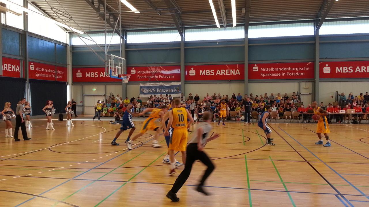Erstes öffentliches Testspiel in Oranienburg, hier 2013 gegen AZS Koszalin