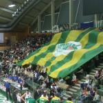 Blockfahne der Khimik Juschne Fans