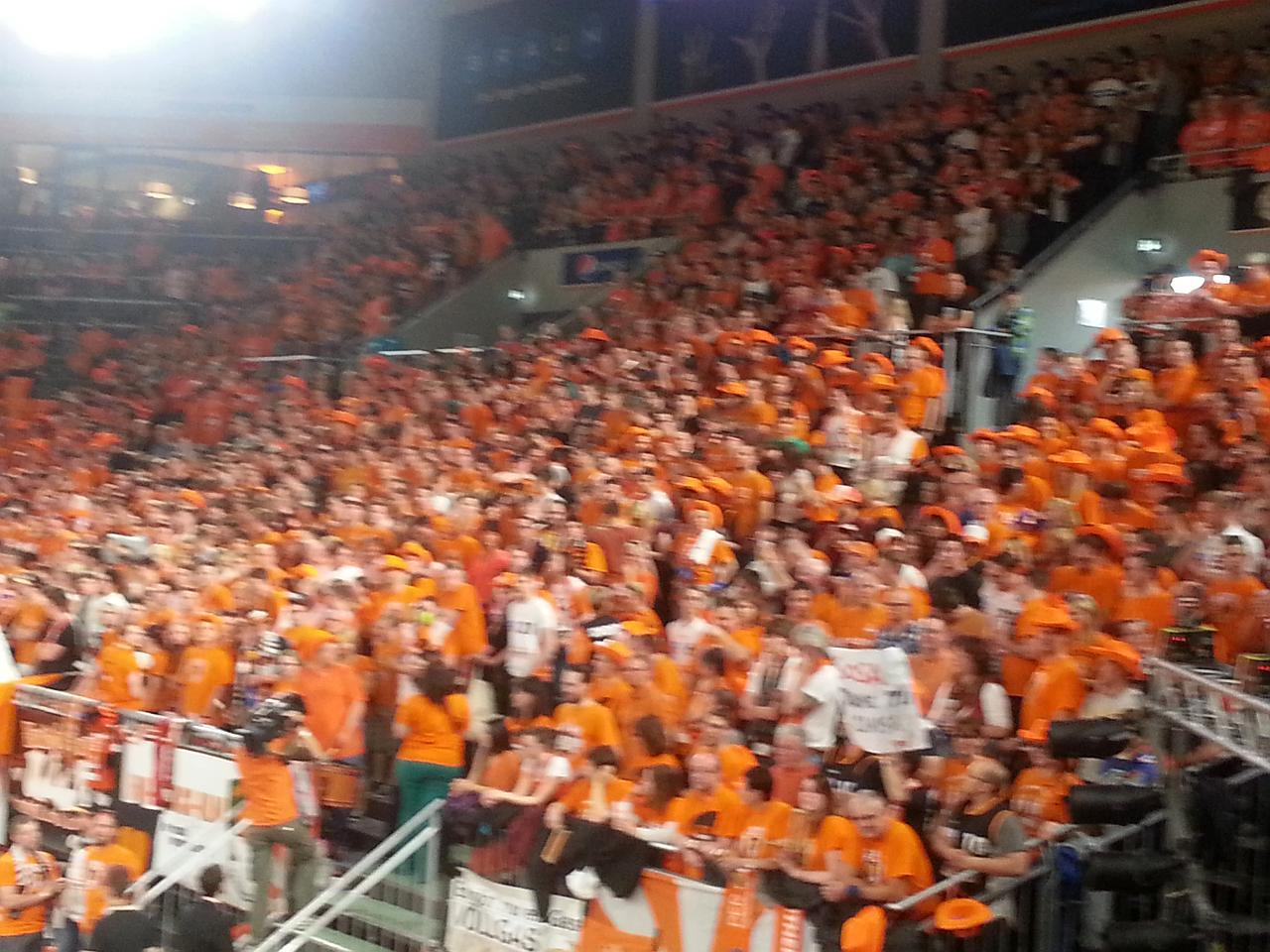 Immer wieder beeindrucken: Die Ulmer Fans!