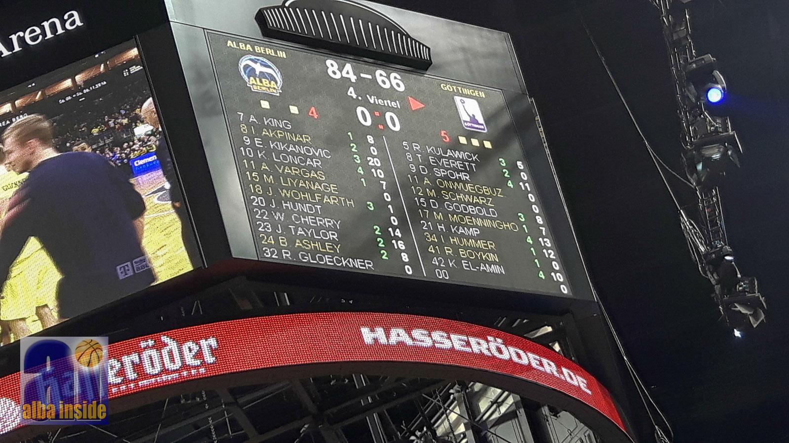 Klarer 84-66-Heimsieg von Alba Berlin gegen die BG Göttingen