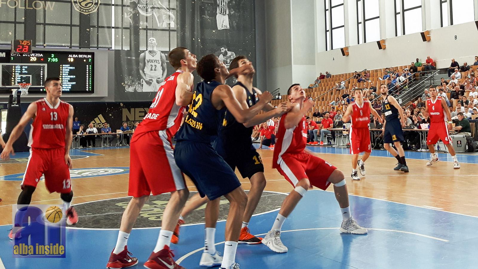 Harter fight zwischen Roter Stern Belgrad und Alba Berlin