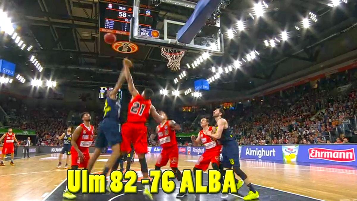 Guter Kampf ohne Punkte, Alba Berlin in Ulm