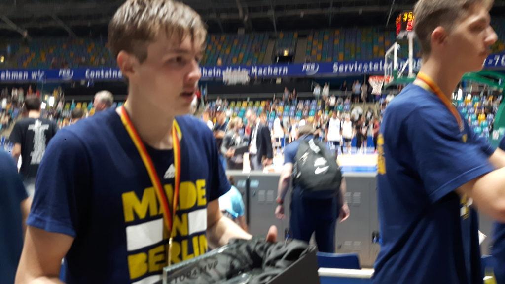 Deutscher Meister U16 (JBBL) 2017 und Top4 MVP: Elias Rödl, Alba Berlin