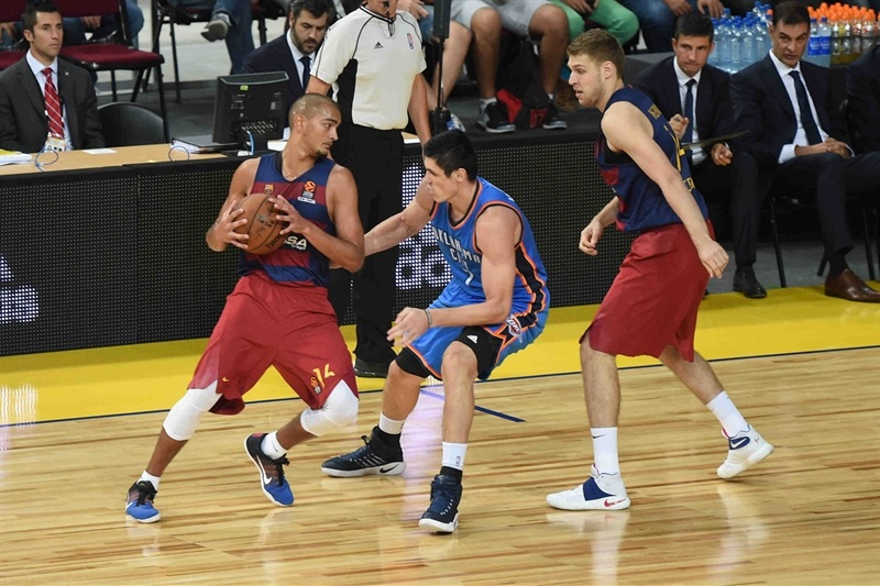 Mit gerade 19 Jahren gegen die Oklahoma City Thunder im NBA Global GameFoto: (c) Euroleague.net
